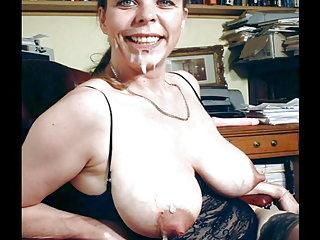 Alix毁掉色情影片的成熟性感女士的幻灯片的业余成年人