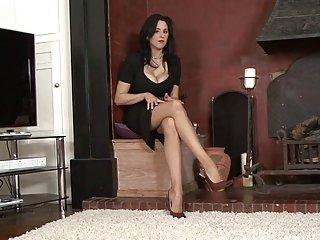 业余的红发色情影片棕褐色的丝袜和大adut业余的